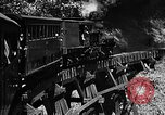 Image of Steam locomotive pushing a train backwards Taiwan, 1940, second 15 stock footage video 65675069924
