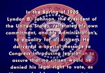 Image of voting rights legislation United States USA, 1965, second 8 stock footage video 65675070903