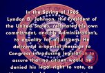 Image of voting rights legislation United States USA, 1965, second 10 stock footage video 65675070903