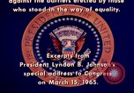 Image of voting rights legislation United States USA, 1965, second 48 stock footage video 65675070903