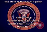 Image of voting rights legislation United States USA, 1965, second 49 stock footage video 65675070903