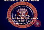 Image of voting rights legislation United States USA, 1965, second 50 stock footage video 65675070903