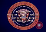 Image of voting rights legislation United States USA, 1965, second 53 stock footage video 65675070903