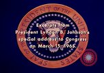 Image of voting rights legislation United States USA, 1965, second 58 stock footage video 65675070903