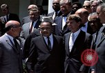 Image of civil rights leaders Washington DC USA, 1963, second 29 stock footage video 65675070908