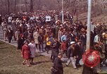 Image of Martin Luther King funeral procession to Morehouse College Atlanta Georgia USA, 1968, second 17 stock footage video 65675070914