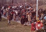 Image of Martin Luther King funeral procession to Morehouse College Atlanta Georgia USA, 1968, second 21 stock footage video 65675070914