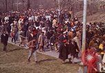 Image of Martin Luther King funeral procession to Morehouse College Atlanta Georgia USA, 1968, second 22 stock footage video 65675070914