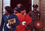 Image of Martin Luther King funeral procession to Morehouse College Atlanta Georgia USA, 1968, second 58 stock footage video 65675070914