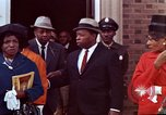 Image of Martin Luther King funeral procession to Morehouse College Atlanta Georgia USA, 1968, second 61 stock footage video 65675070914