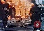 Image of burning building in riot after death of Martin Luther King Jr Washington DC USA, 1968, second 11 stock footage video 65675070919