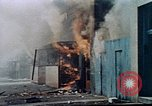 Image of burning building in riot after death of Martin Luther King Jr Washington DC USA, 1968, second 18 stock footage video 65675070919