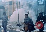 Image of burning building in riot after death of Martin Luther King Jr Washington DC USA, 1968, second 31 stock footage video 65675070919