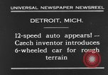 Image of 6-wheeled car Detroit Michigan USA, 1931, second 2 stock footage video 65675070928
