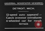 Image of 6-wheeled car Detroit Michigan USA, 1931, second 3 stock footage video 65675070928