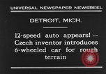 Image of 6-wheeled car Detroit Michigan USA, 1931, second 4 stock footage video 65675070928