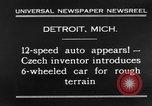 Image of 6-wheeled car Detroit Michigan USA, 1931, second 8 stock footage video 65675070928