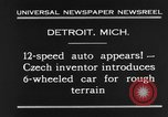 Image of 6-wheeled car Detroit Michigan USA, 1931, second 10 stock footage video 65675070928