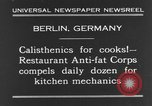 Image of calisthenics for cooks Berlin Germany, 1931, second 3 stock footage video 65675070931