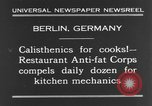 Image of calisthenics for cooks Berlin Germany, 1931, second 4 stock footage video 65675070931