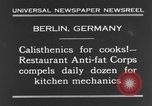 Image of calisthenics for cooks Berlin Germany, 1931, second 6 stock footage video 65675070931
