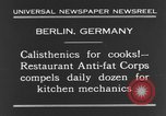 Image of calisthenics for cooks Berlin Germany, 1931, second 7 stock footage video 65675070931