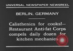 Image of calisthenics for cooks Berlin Germany, 1931, second 8 stock footage video 65675070931
