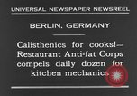Image of calisthenics for cooks Berlin Germany, 1931, second 10 stock footage video 65675070931