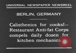 Image of calisthenics for cooks Berlin Germany, 1931, second 12 stock footage video 65675070931