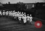 Image of calisthenics for cooks Berlin Germany, 1931, second 19 stock footage video 65675070931