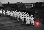 Image of calisthenics for cooks Berlin Germany, 1931, second 20 stock footage video 65675070931