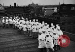 Image of calisthenics for cooks Berlin Germany, 1931, second 22 stock footage video 65675070931