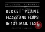 Image of rocket plane mail test Greenwood Lake New York USA, 1936, second 2 stock footage video 65675070941