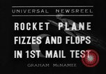 Image of rocket plane mail test Greenwood Lake New York USA, 1936, second 3 stock footage video 65675070941