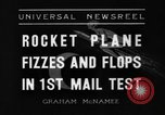 Image of rocket plane mail test Greenwood Lake New York USA, 1936, second 5 stock footage video 65675070941