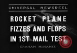 Image of rocket plane mail test Greenwood Lake New York USA, 1936, second 7 stock footage video 65675070941