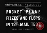 Image of rocket plane mail test Greenwood Lake New York USA, 1936, second 8 stock footage video 65675070941