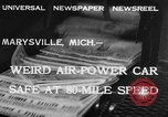 Image of air powered car Marysville Michigan USA, 1932, second 2 stock footage video 65675070962