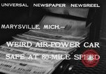 Image of air powered car Marysville Michigan USA, 1932, second 3 stock footage video 65675070962