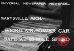Image of air powered car Marysville Michigan USA, 1932, second 4 stock footage video 65675070962