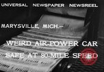 Image of air powered car Marysville Michigan USA, 1932, second 7 stock footage video 65675070962