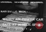 Image of air powered car Marysville Michigan USA, 1932, second 8 stock footage video 65675070962