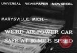 Image of air powered car Marysville Michigan USA, 1932, second 9 stock footage video 65675070962