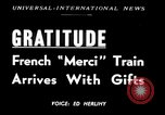 Image of train of gifts New York City USA, 1949, second 1 stock footage video 65675070978