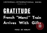 Image of train of gifts New York City USA, 1949, second 6 stock footage video 65675070978