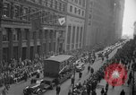 Image of train of gifts New York City USA, 1949, second 43 stock footage video 65675070978