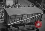 Image of train of gifts New York City USA, 1949, second 44 stock footage video 65675070978