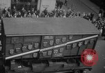 Image of train of gifts New York City USA, 1949, second 46 stock footage video 65675070978