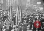 Image of train of gifts New York City USA, 1949, second 59 stock footage video 65675070978