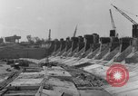 Image of dam under construction United States USA, 1956, second 54 stock footage video 65675070983
